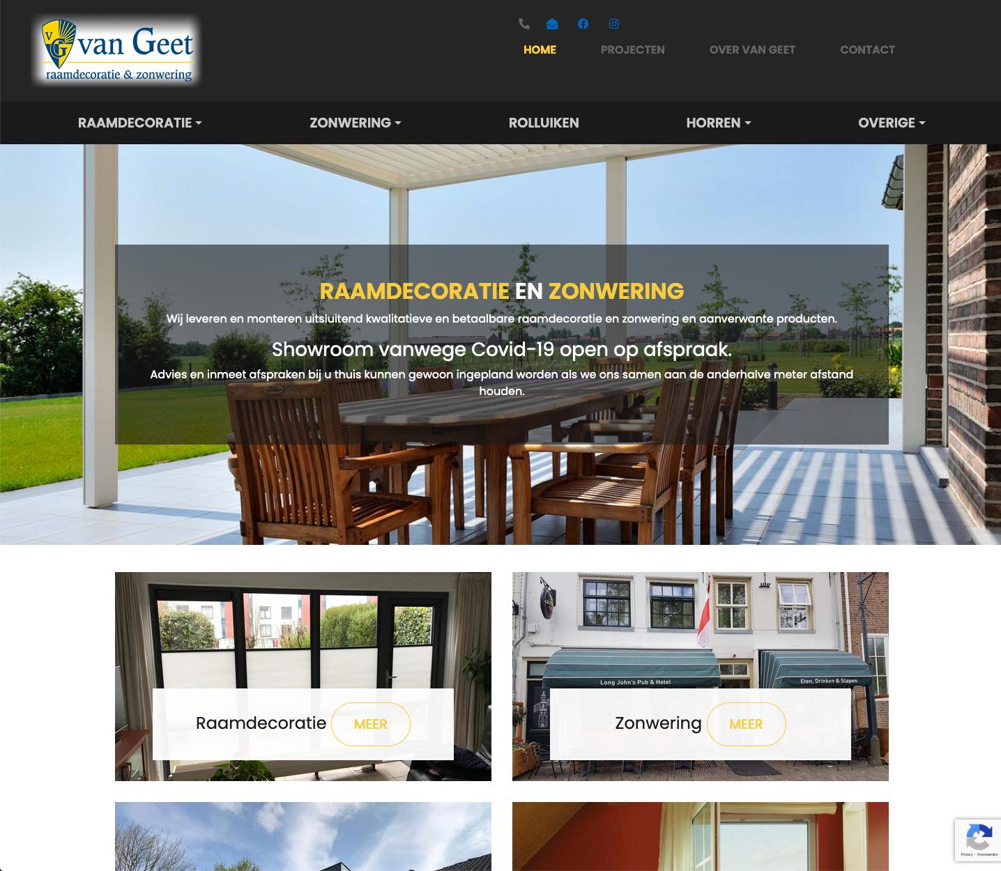 Van Geet zonwering & raamdecoratie